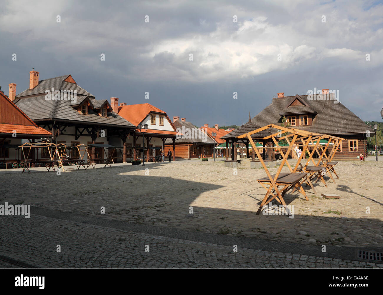 Ethnographic Museum of New Sacz, Poland - Stock Image