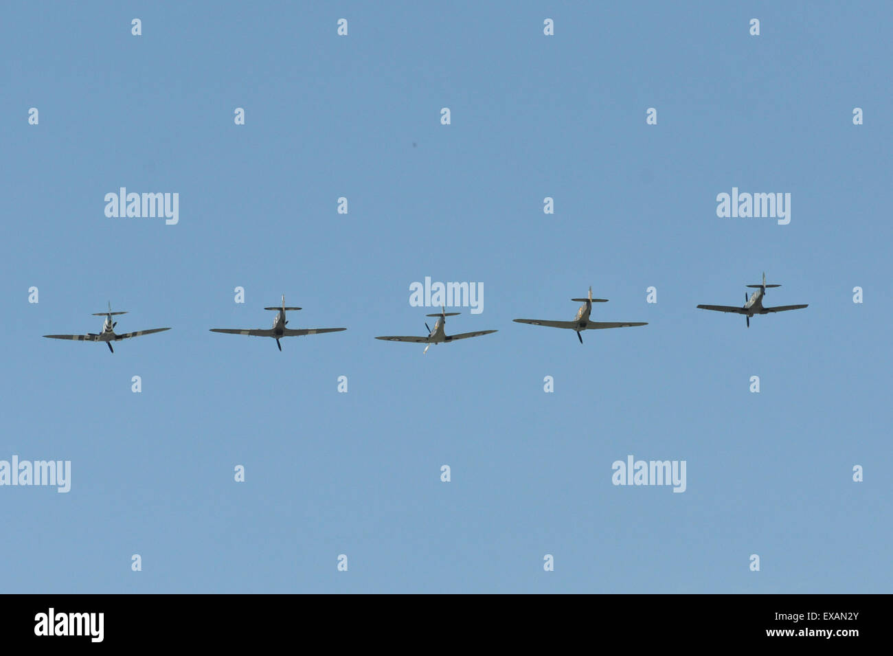 Battle of Britain Memorial Flight 75th anniversary flyby over Buckingham Palace Stock Photo