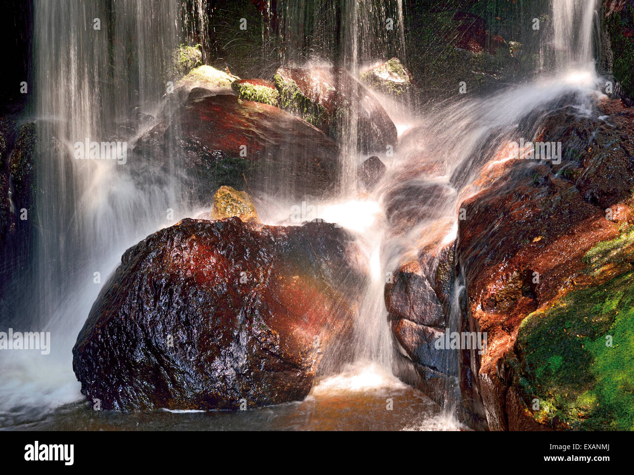 Germany, Black Forest: Detail of a cascade at the Waterfall of Menzenschwand - Stock Image