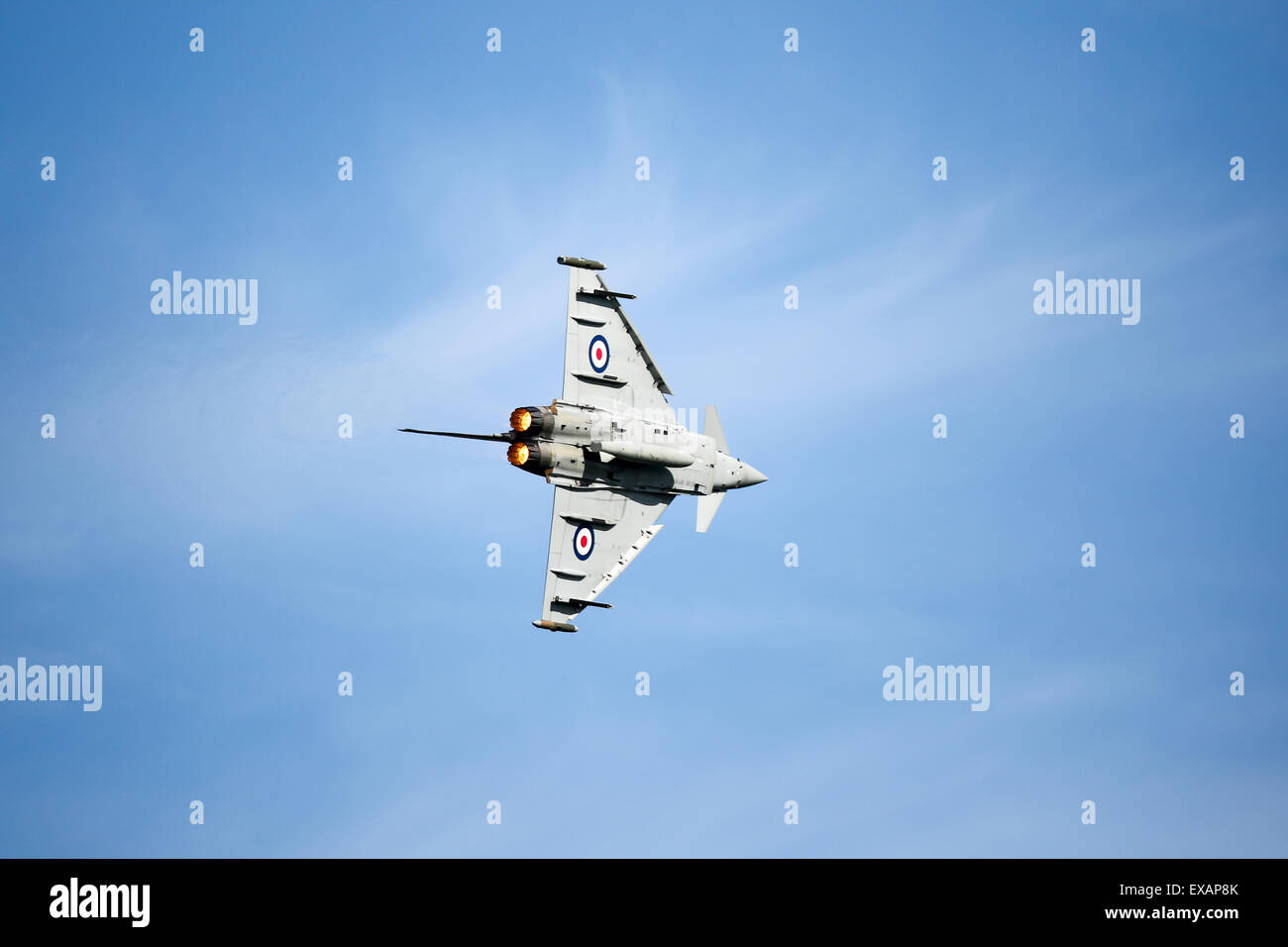 Goodwood, UK. 28th June, 2015. An RAF - Typhoon FGR4 aircraft in Battle of Britain colours at the Festival of Speed - Stock Image