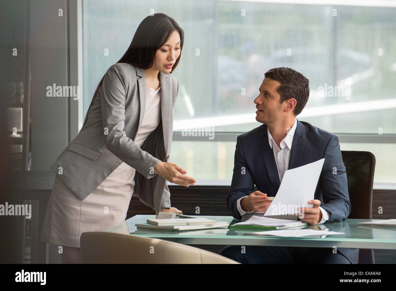 Assistant working with executive - Stock Image