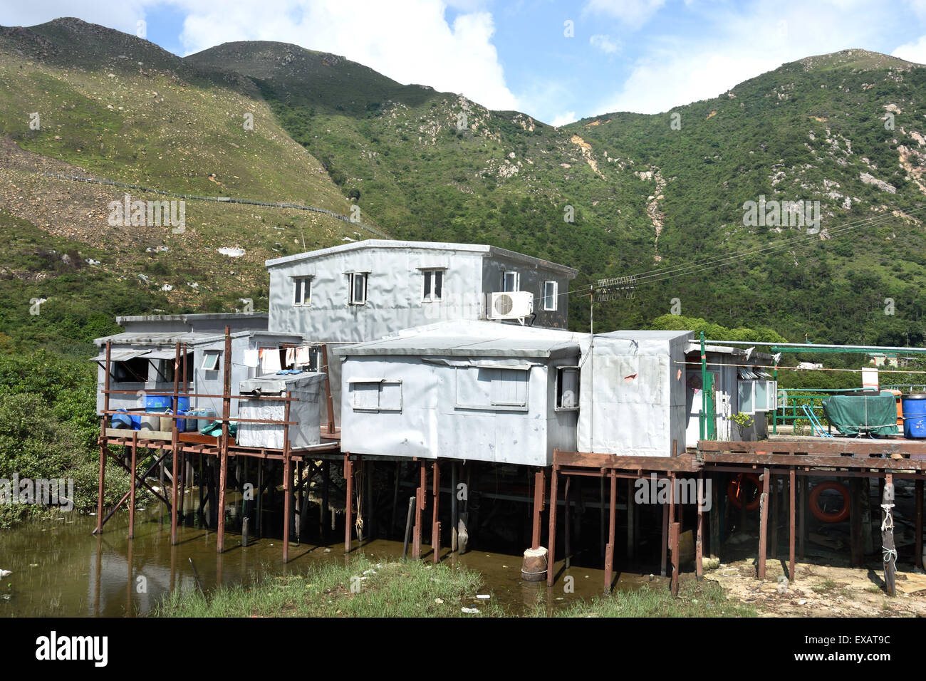 Tai O fishing village, Lantau island, Hong Kong China Chinese - Stock Image