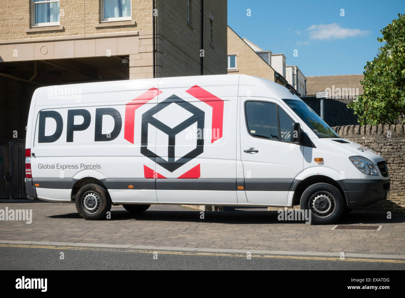 DPD parcel van, UK. - Stock Image