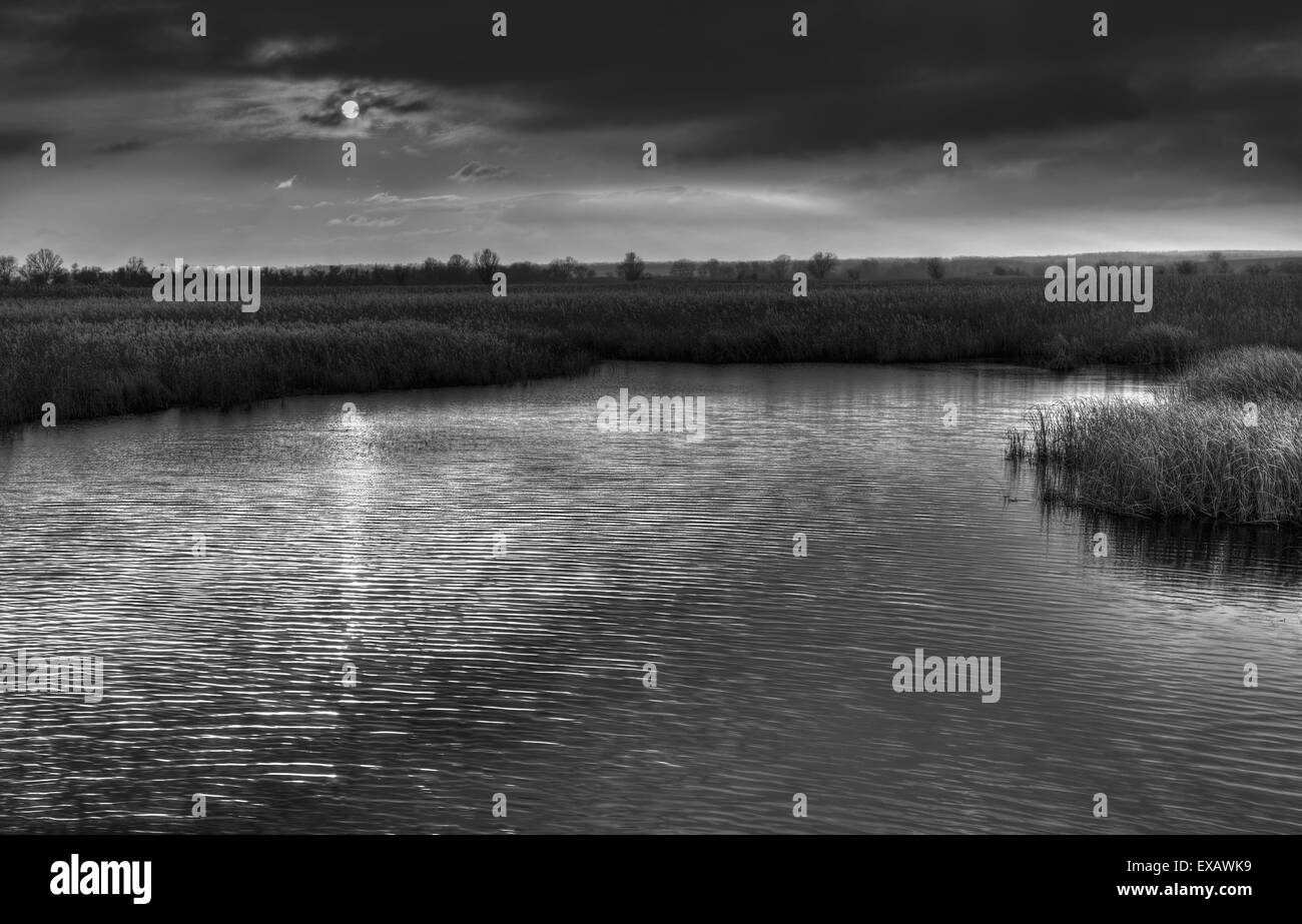 Sinister place on a river bank - Stock Image