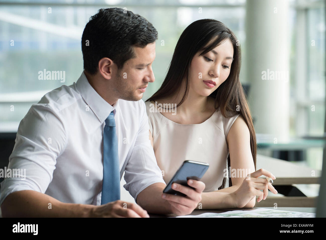 Business professionals working together Stock Photo