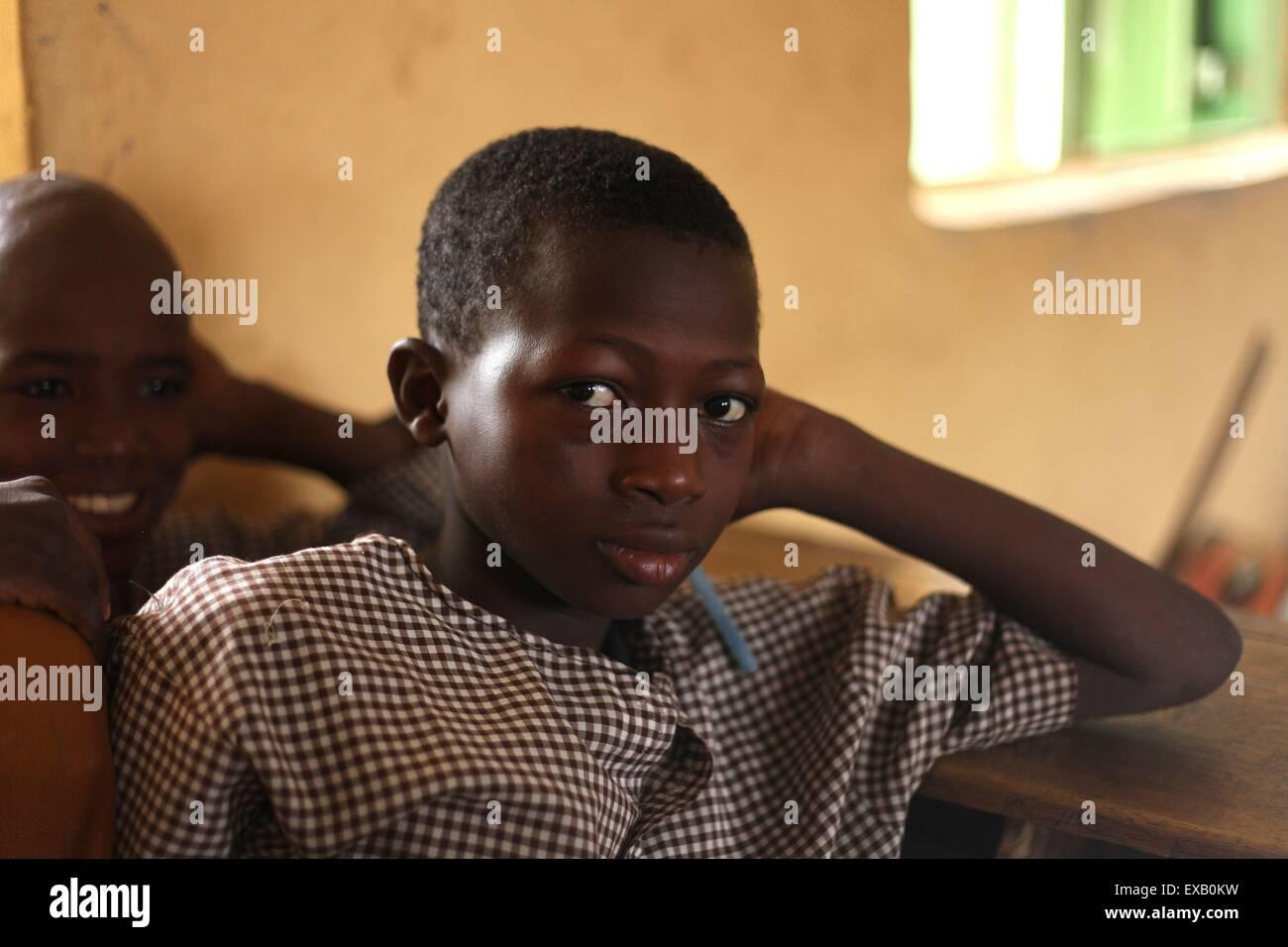 Islamic Primary School in  Nigeria Stock Photo