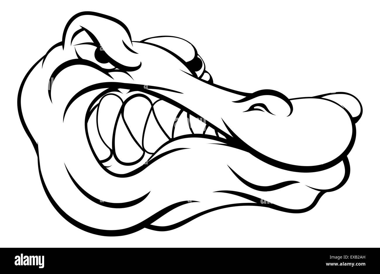 crocodile alligator cartoon character head stock photos crocodile