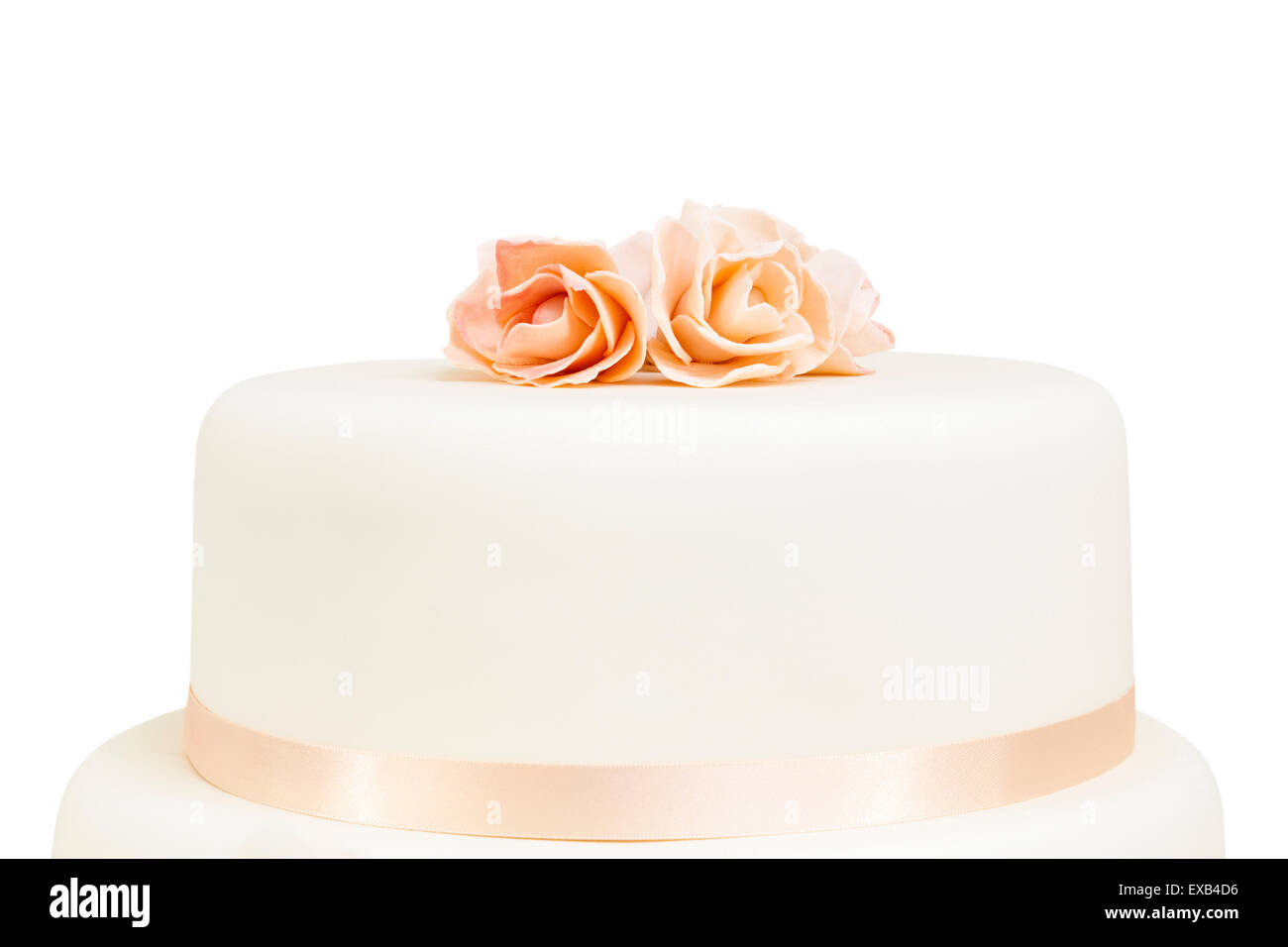 Simple style cake with a decoration of rose petals. Cut out and ...