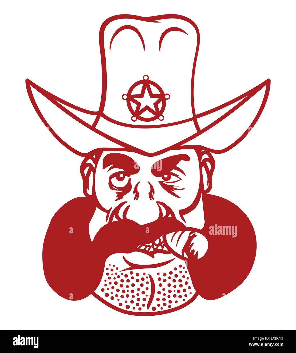 Vector illustration of the sheriff - Stock Image