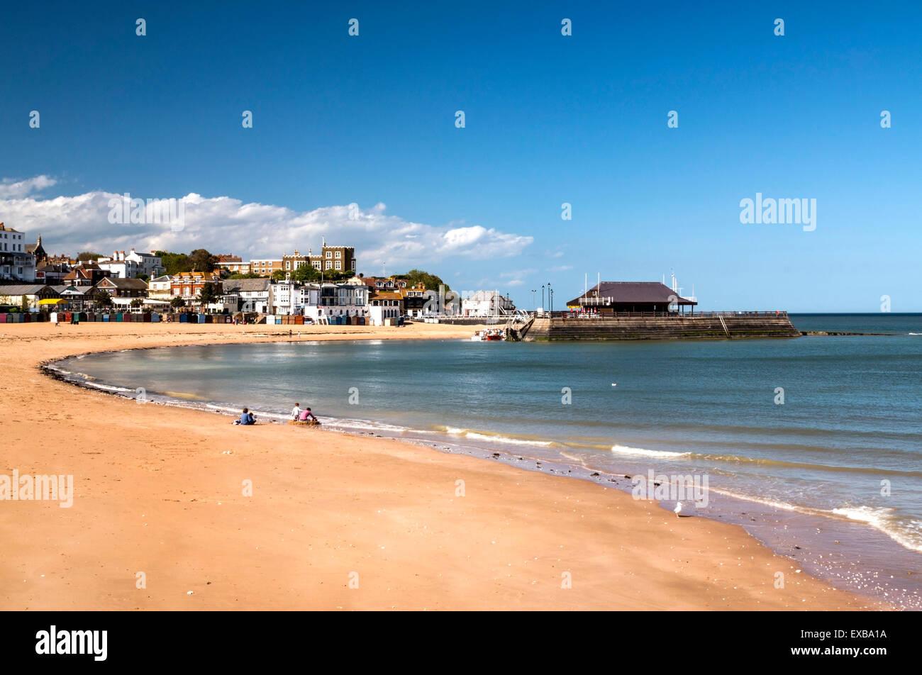 Viking bay beach. - Stock Image