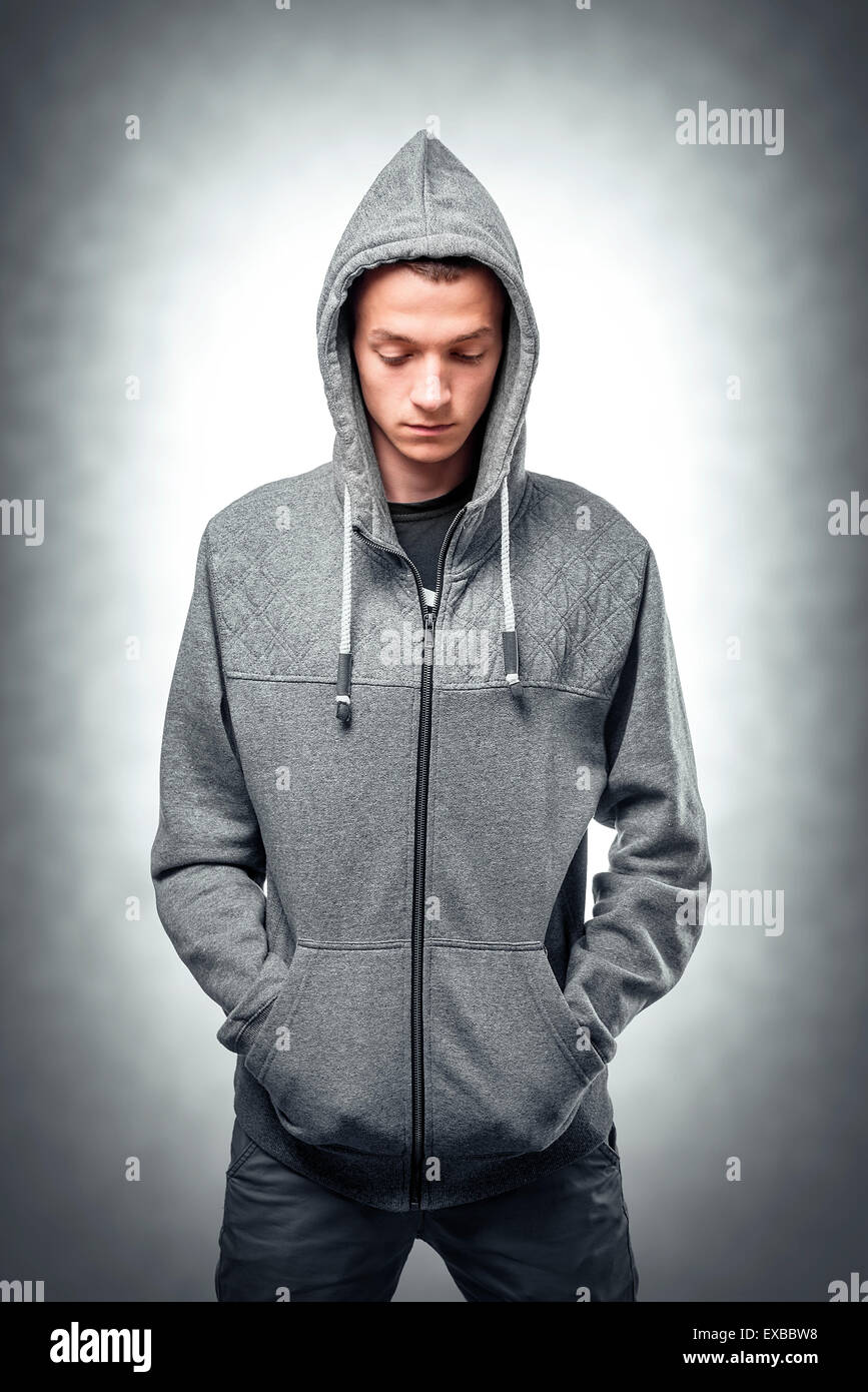 1904b025 Young man in stylish sweatshirt Stock Photo: 85073332 - Alamy