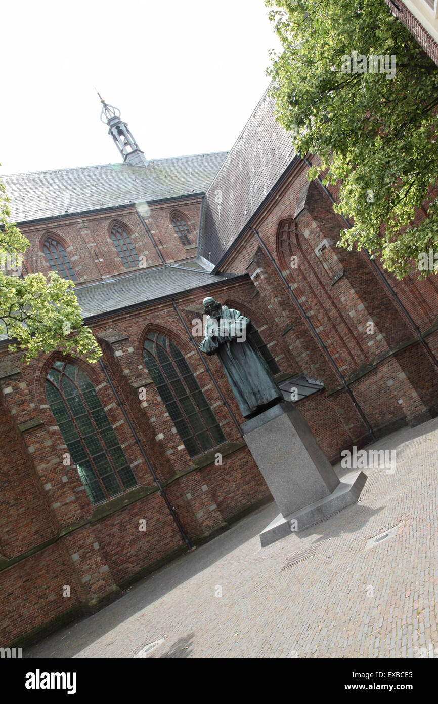 Statue in front of St. Vitus church, Naarden Stock Photo