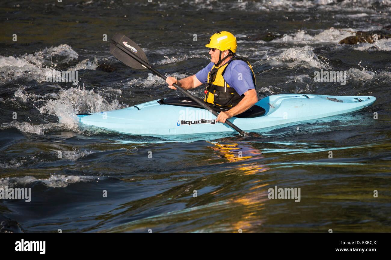 Boise River Kayak Idaho Stock Photos & Boise River Kayak