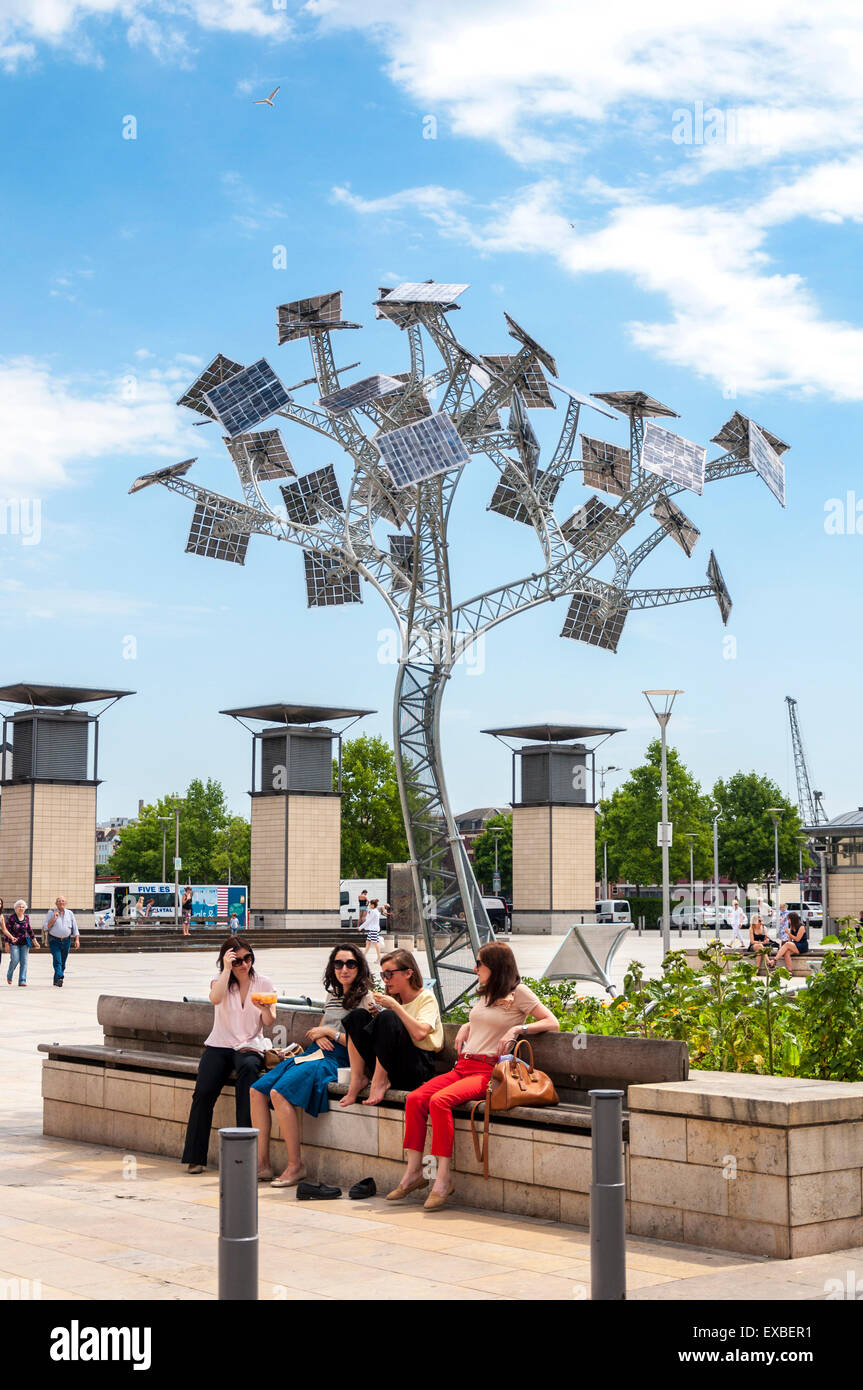 The Energy Tree at-Bristol Science Centre, is part of the city's year as European Green Capital, Bristol, England, - Stock Image