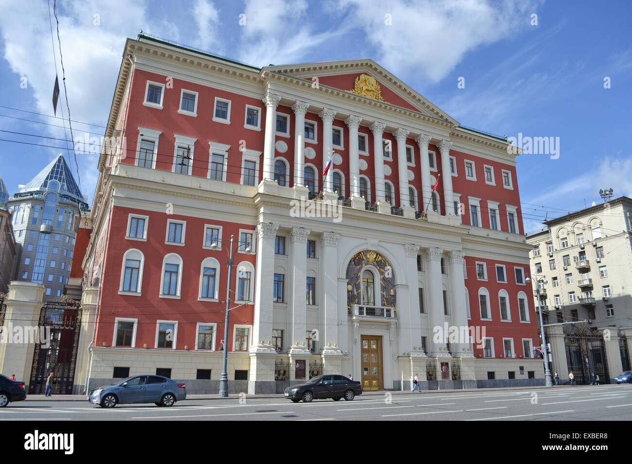 historic former Moscow City Hall, Russia (now replaced with The Moscow City Duma) - Stock Image