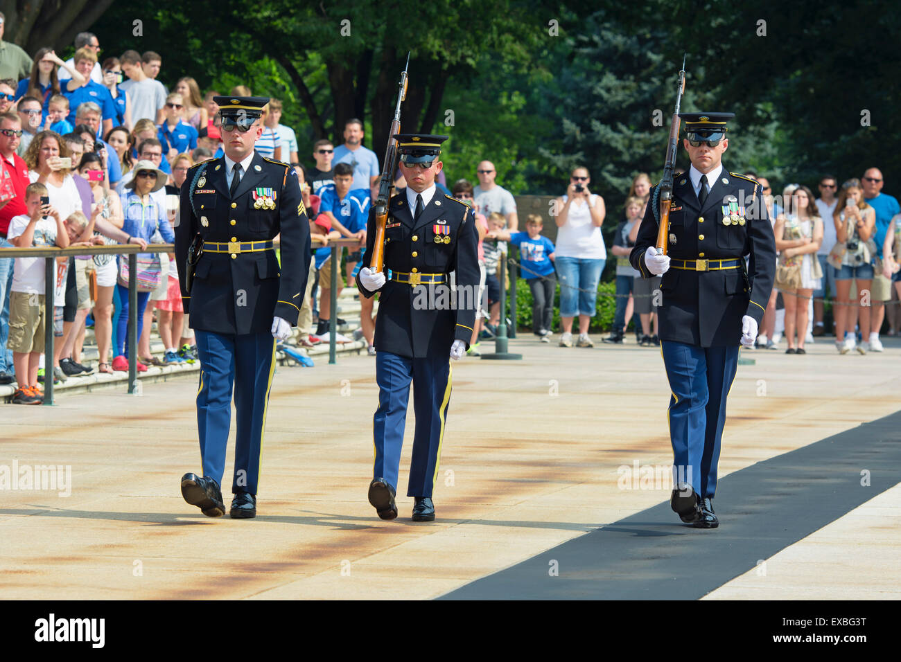 Changing of the Guard, Arlington National Cemetery, Tomb of the Unknown Soldier, Virginia - Stock Image