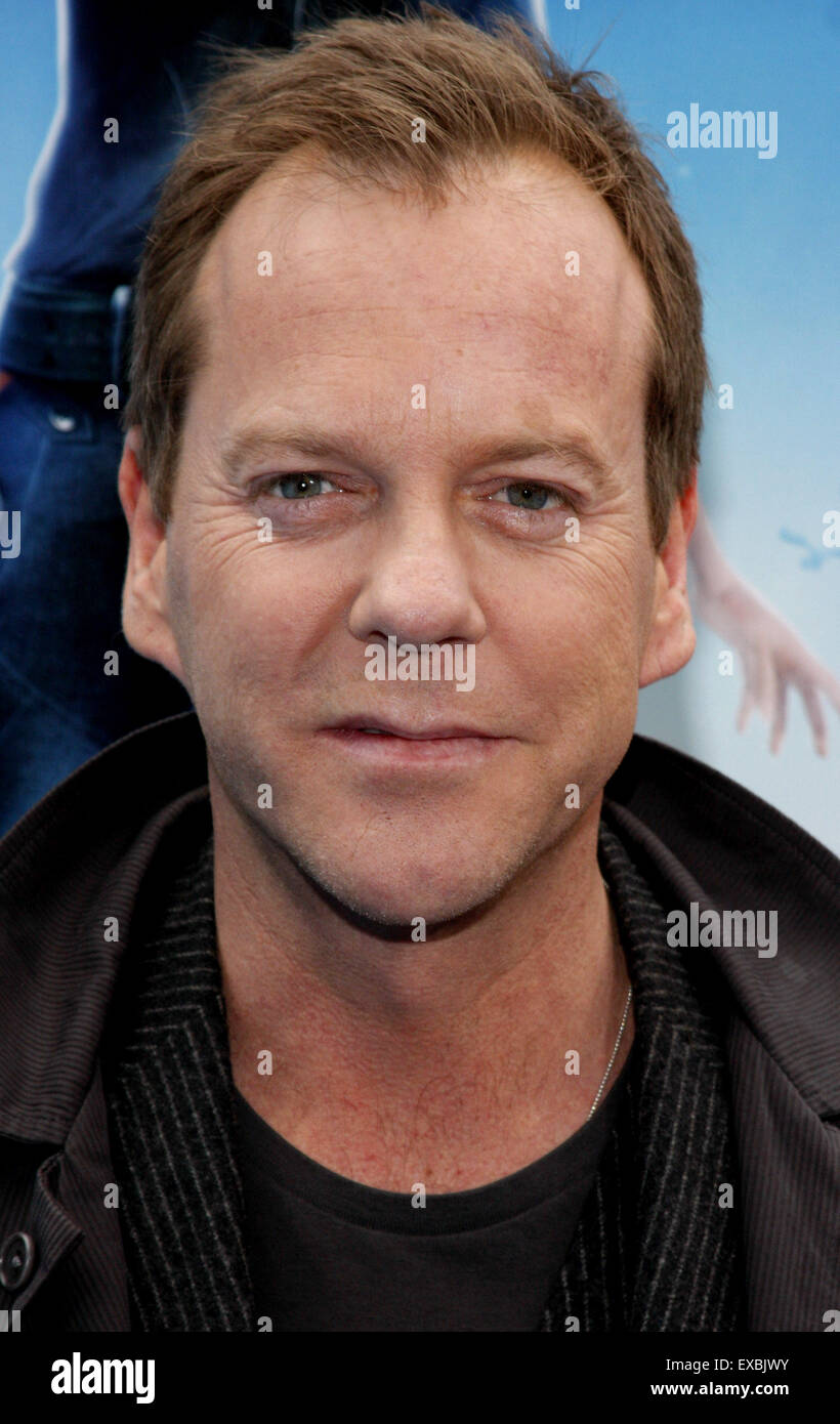 Kiefer Sutherland at the Los Angeles premiere of 'Monsters vs. Aliens' held at the Gibson Amphitheatre. - Stock Image