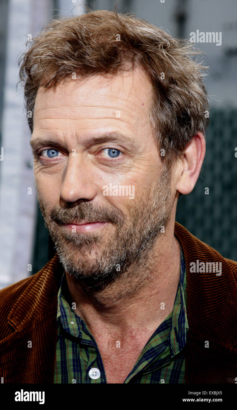 Hugh Laurie at the Los Angeles premiere of 'Monsters vs. Aliens' held at the Gibson Amphitheatre in Universal - Stock Image