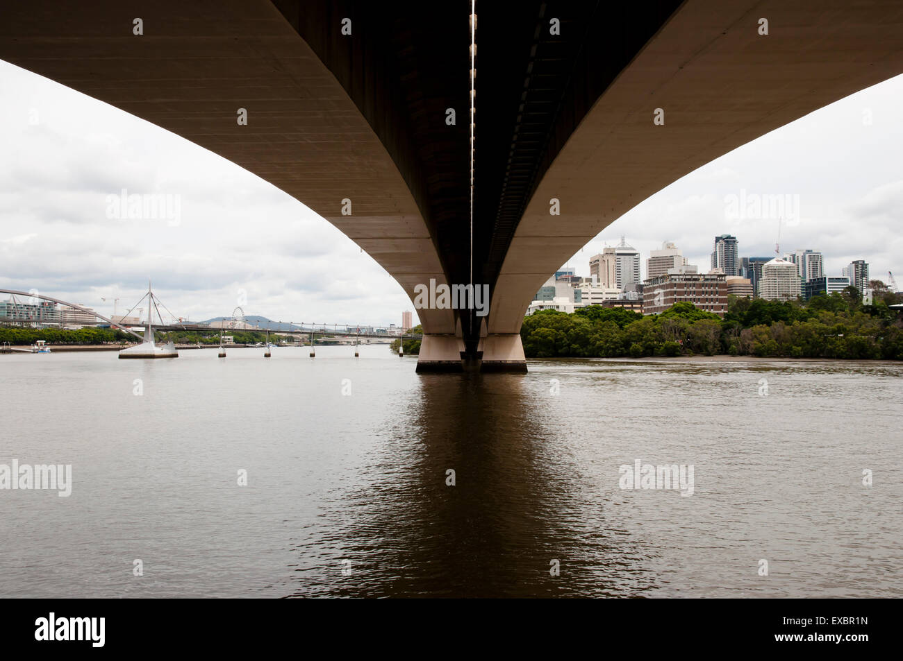 Captain Cook Bridge - Brisbane - Australia - Stock Image