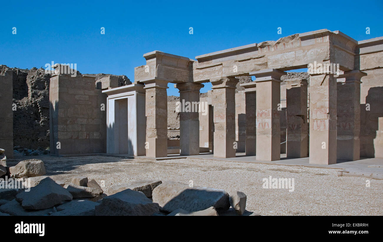 Karnak, Luxor, Egypt. Temple of Karnak sacred to god Amon: a little temple in the Open Air Museum - Stock Image