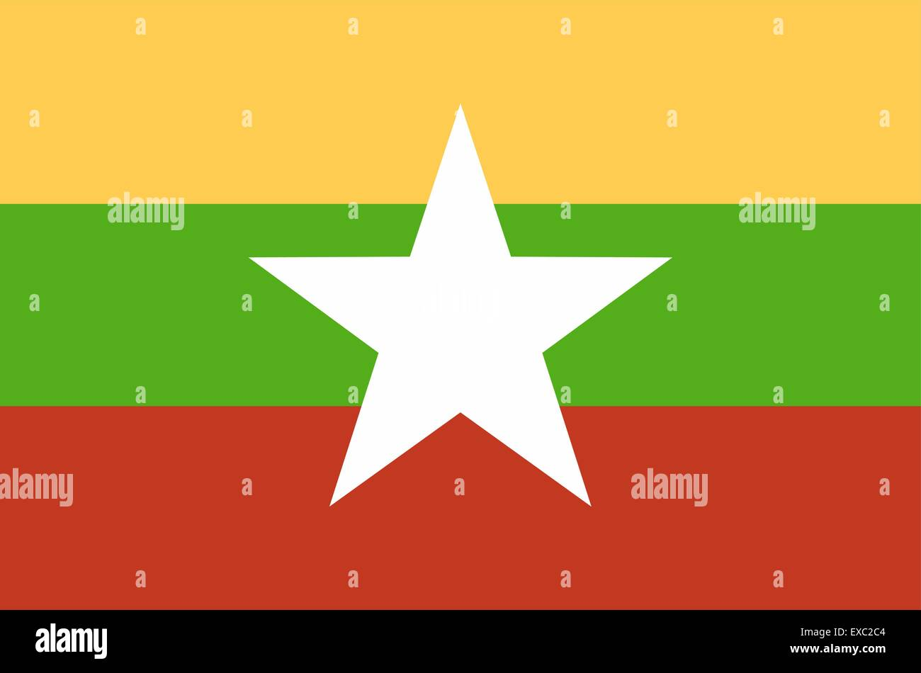 flag of Myanmar (Birma) - Stock Vector