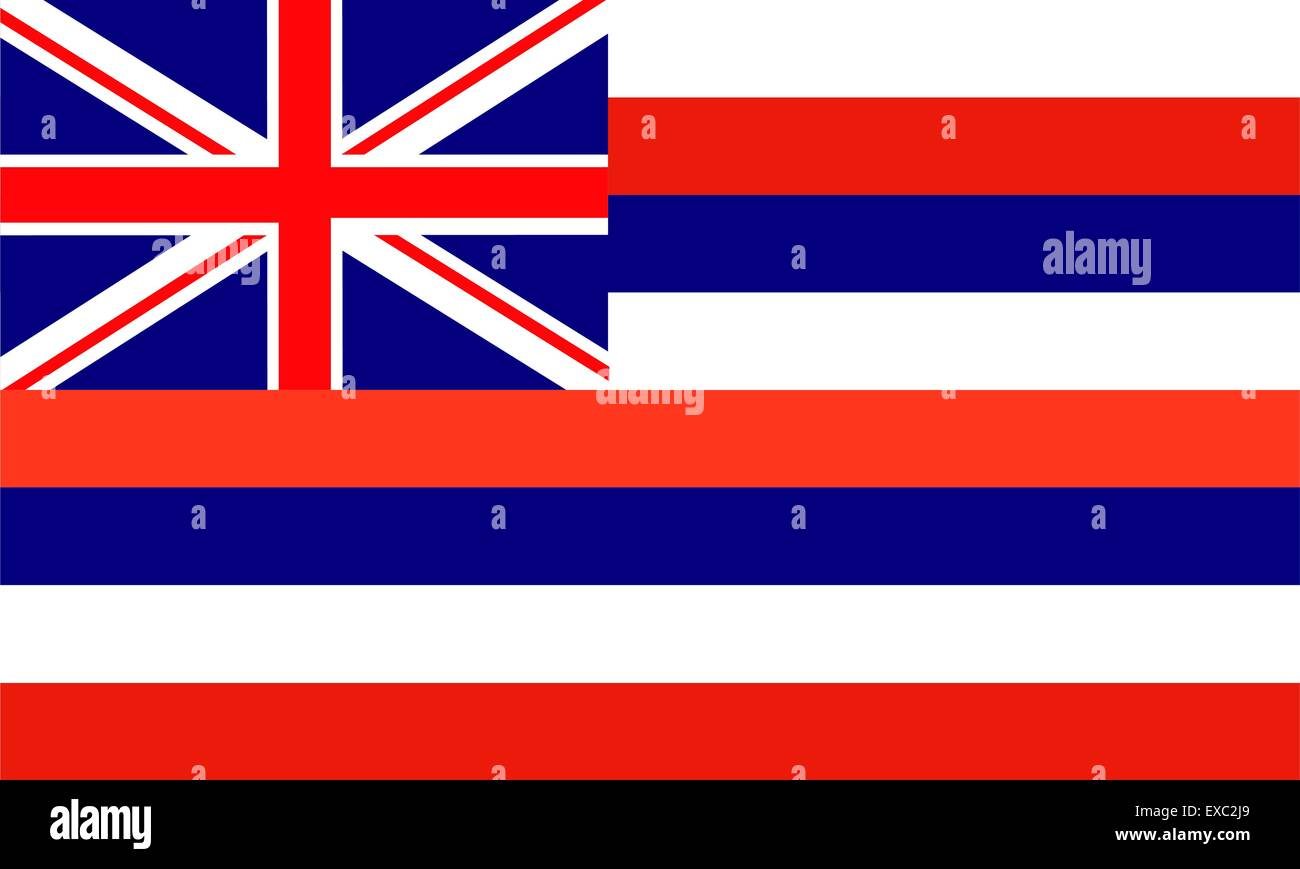 flag of Hawaii (USA) - Stock Vector