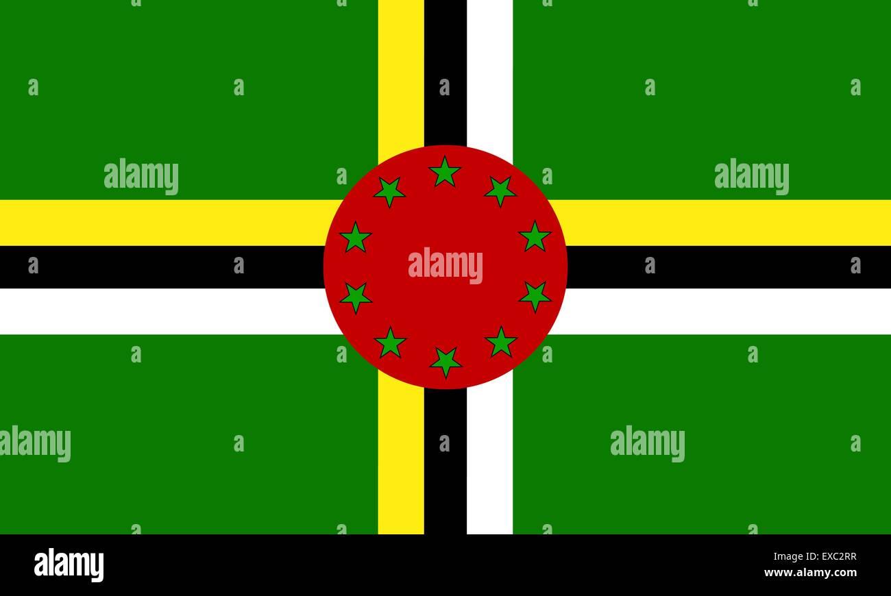 Dominica flag - Stock Vector