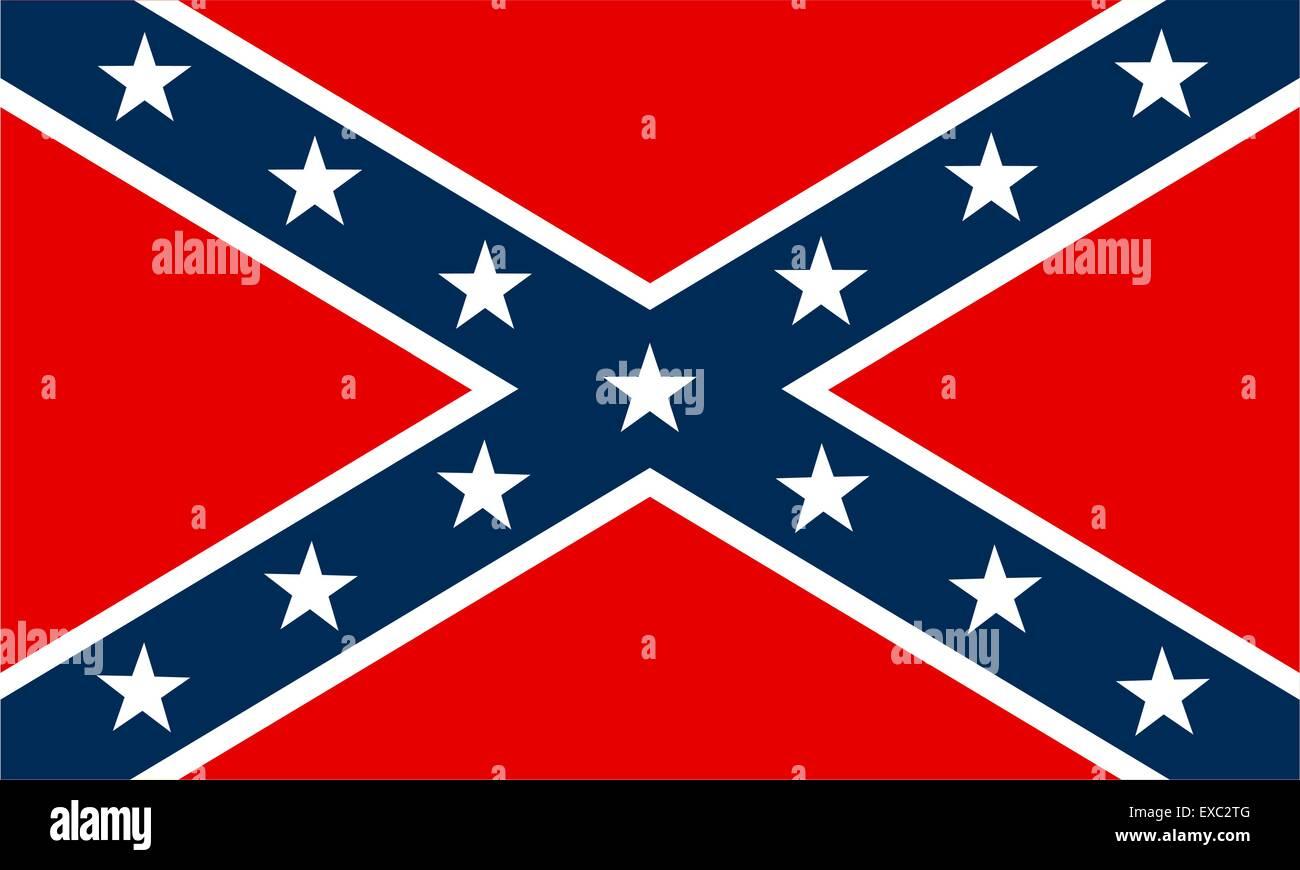 Confederate flag - Stock Vector