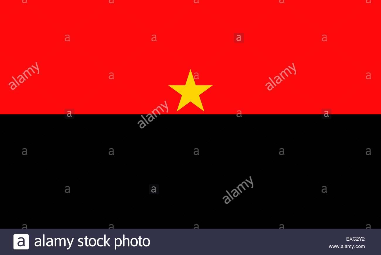 Angola flag - Stock Vector