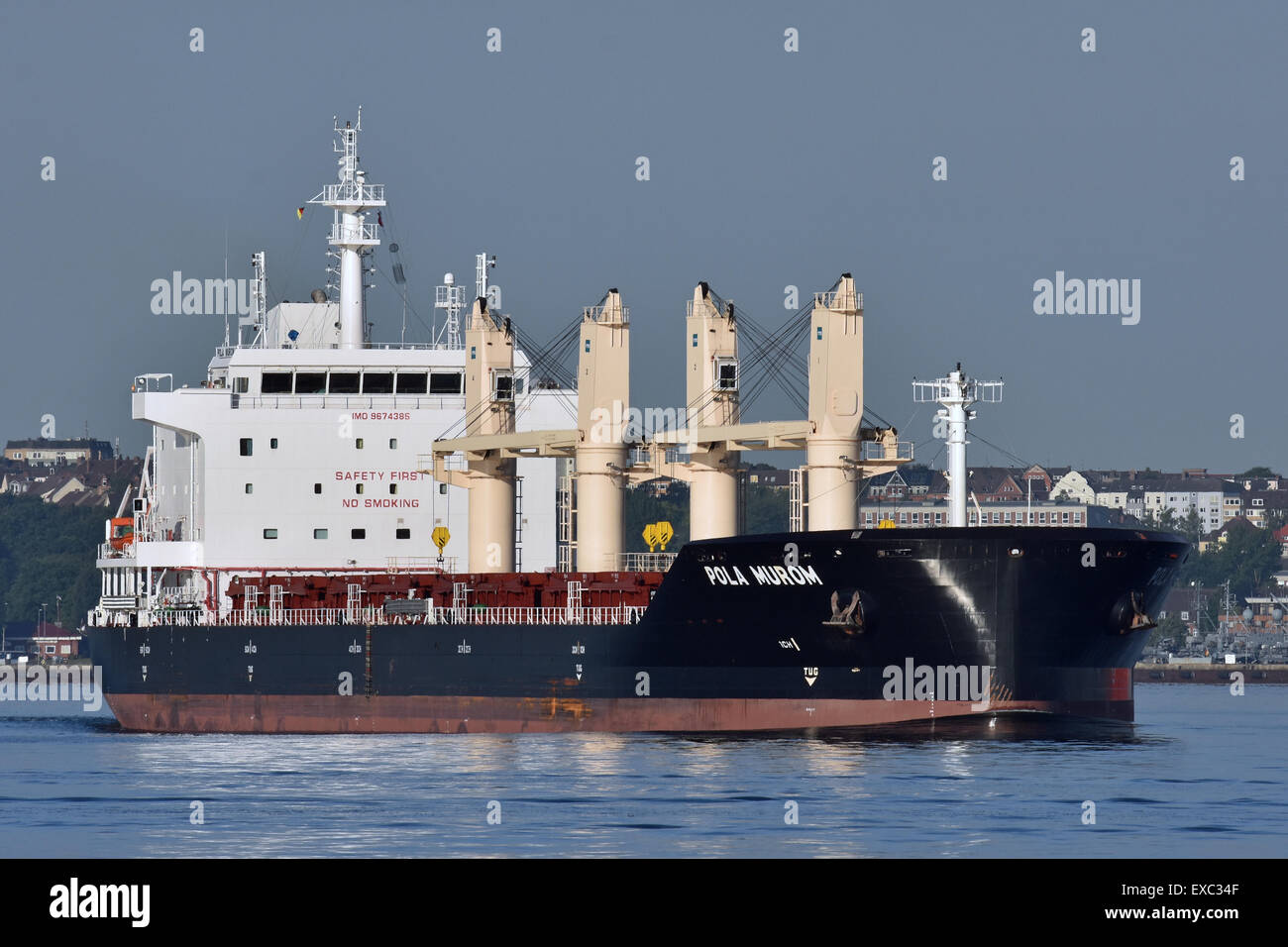Bulk Carrier Pola Murom just left Holtenau Locks an is now heading for the baltic sea - Stock Image