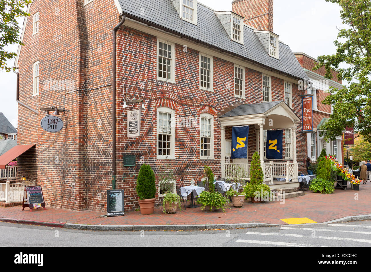 Reynolds Tavern in Annapolis, Maryland. - Stock Image