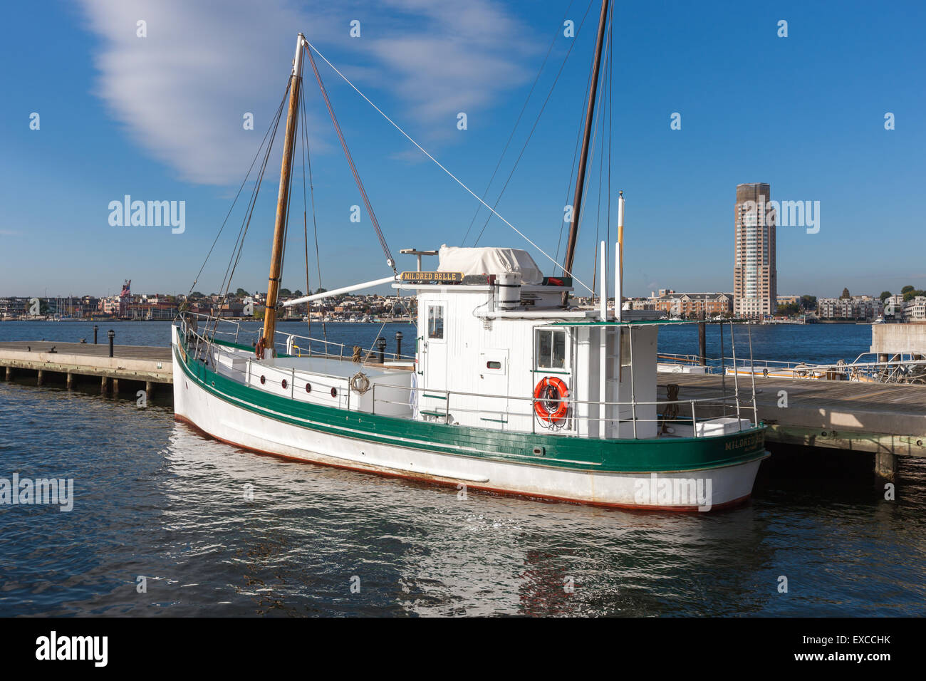 The Midred Belle, a traditional Chesapeake Bay Buy Boat, now a research vessel for the Living Classrooms Foundation - Stock Image