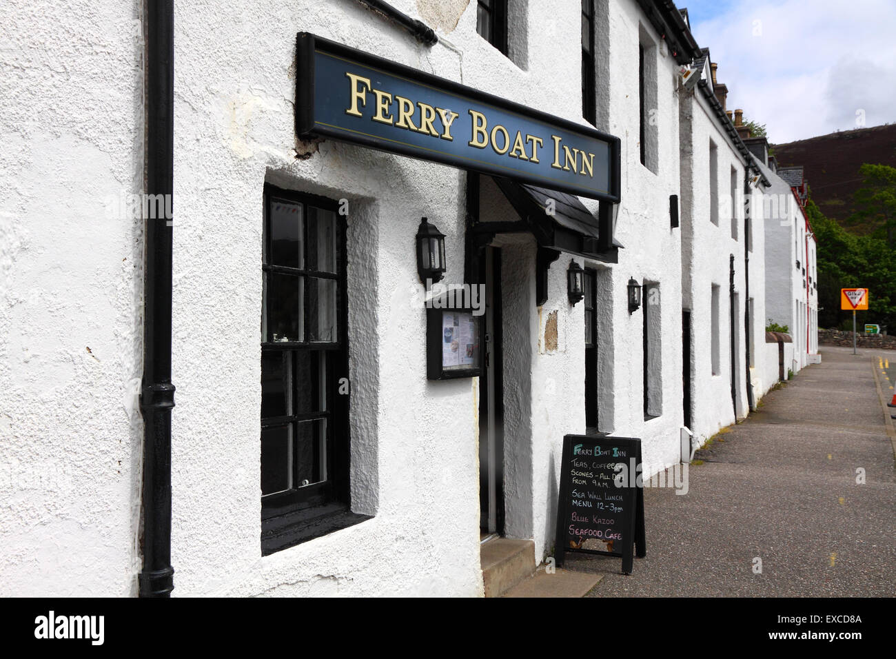 The Ferry Boat Inn in Ullapool, Scotland, UK - Stock Image