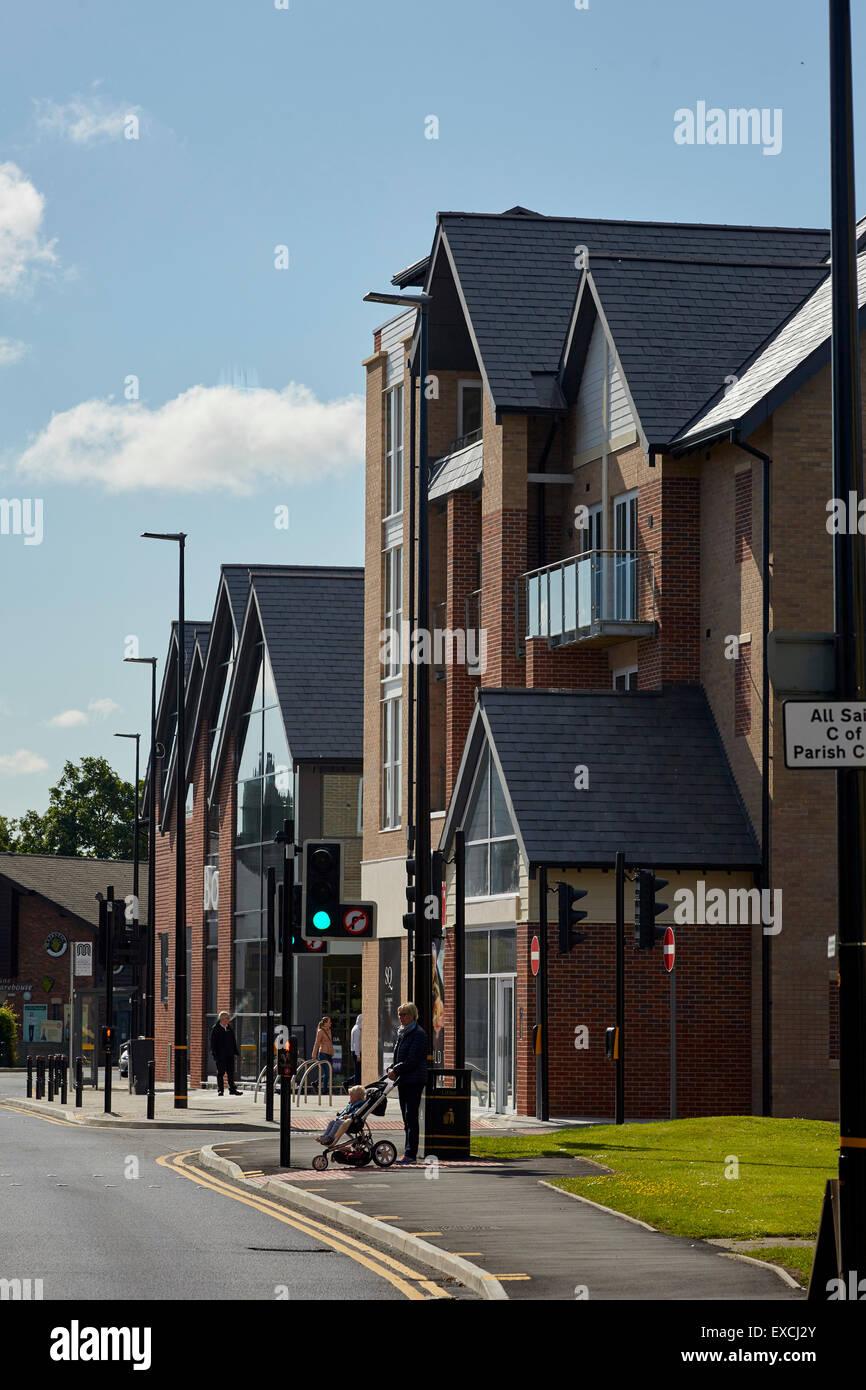 Hale barnes village modern design shops - Stock Image