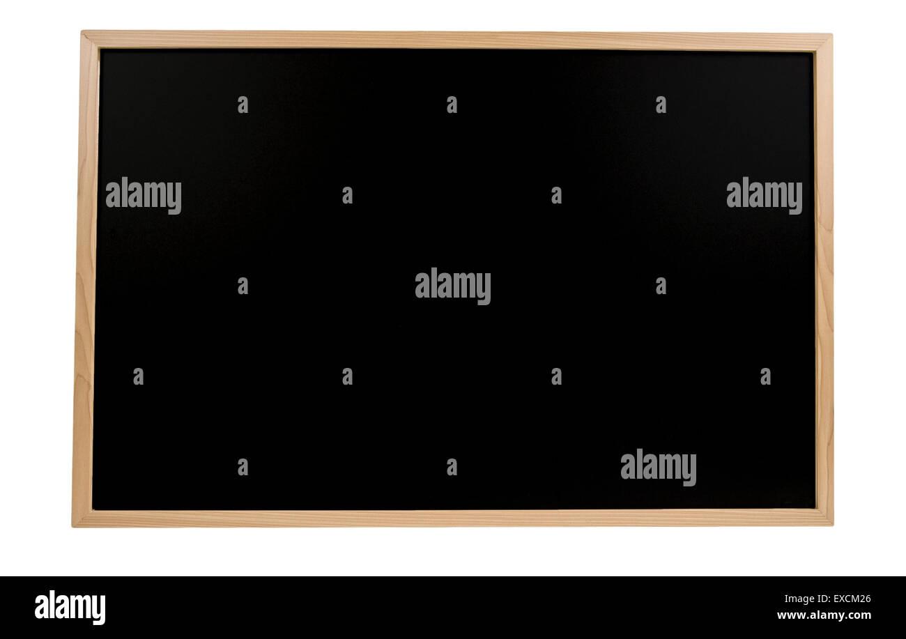 Blank Blackboard Isolated - Stock Image