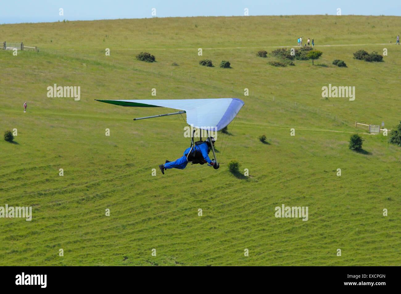 Hang-gliding at Devils Dyke Sussex England UK - Stock Image