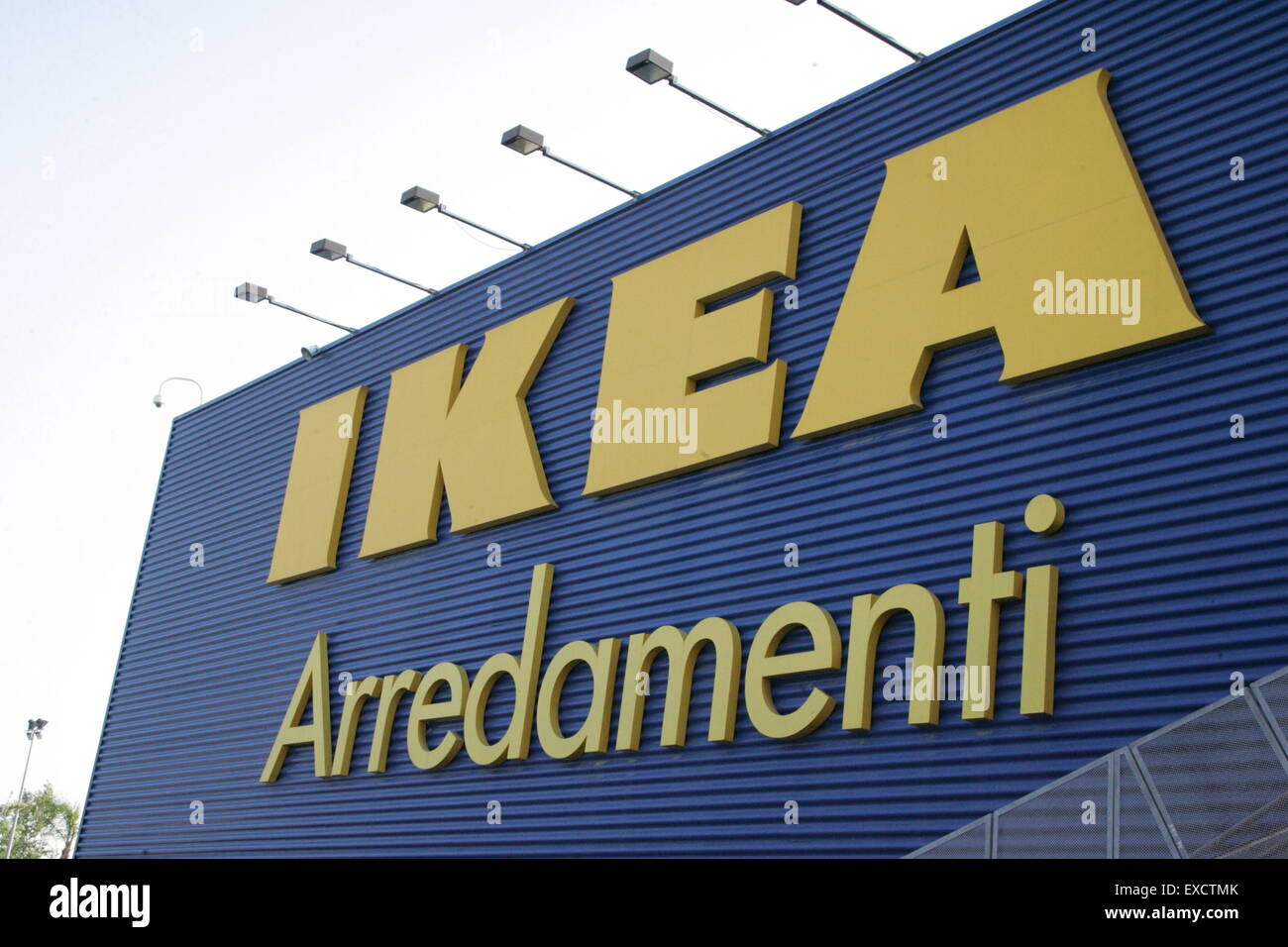 Casoria Italy 11th July 2015 The Ikea Store Employees Organized