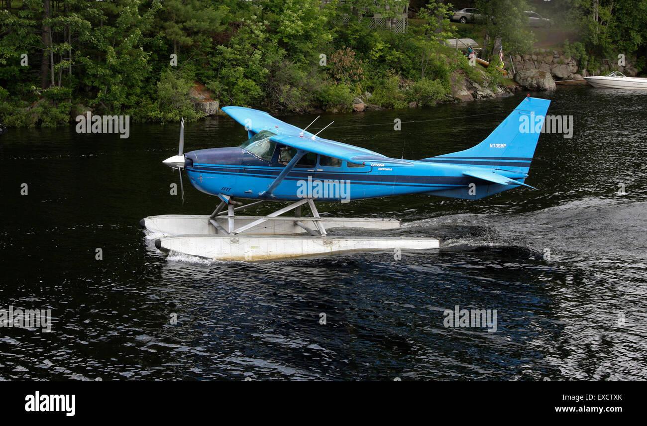 Cessna float plane seaplane Long Lake New York USA US