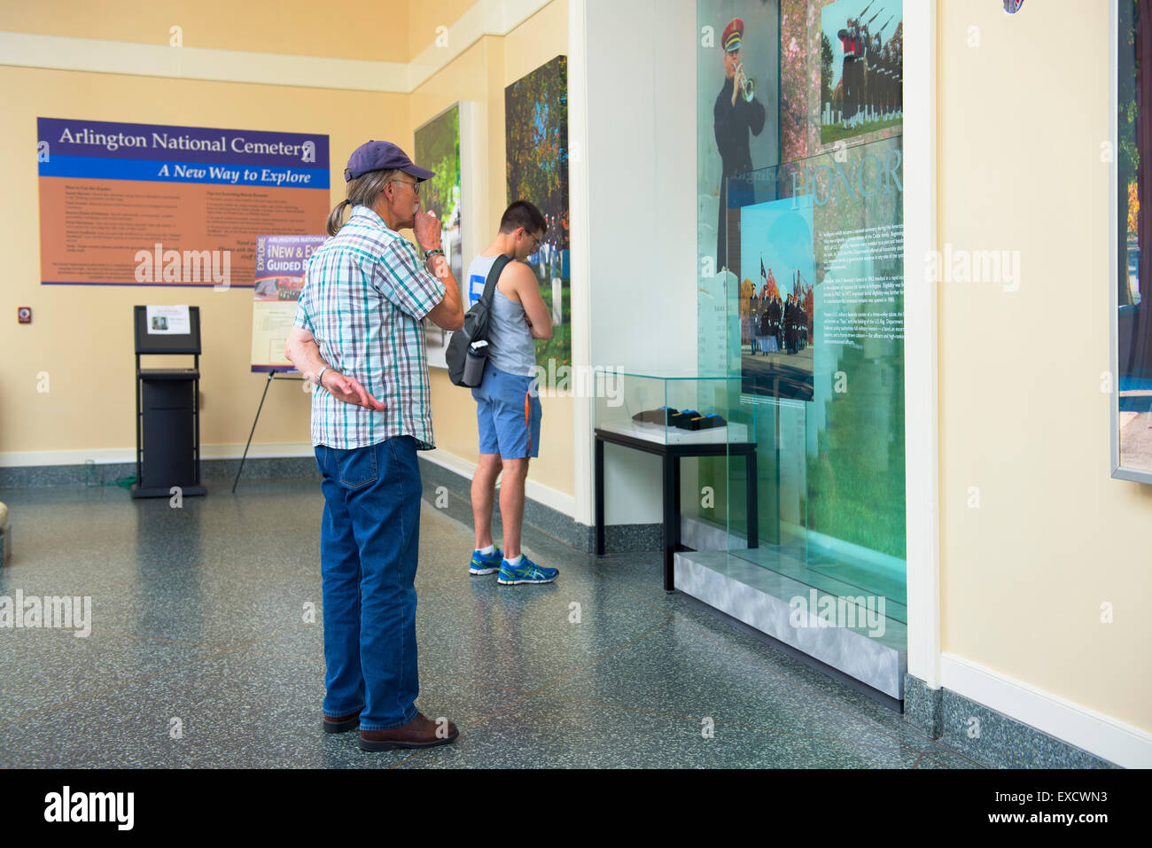 Welcome Center, Arlington National Cemetery, Virginia - Stock Image