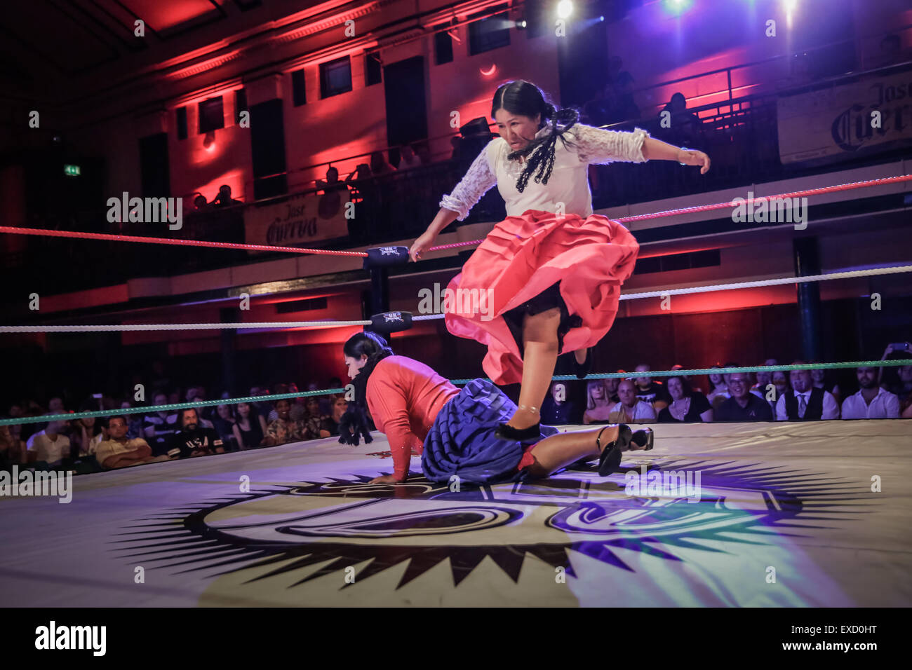 London, UK. 11th July, 2015. lucha libre  Mexican free fighting at York Hall, London , UK Credit:  carol moir/Alamy - Stock Image