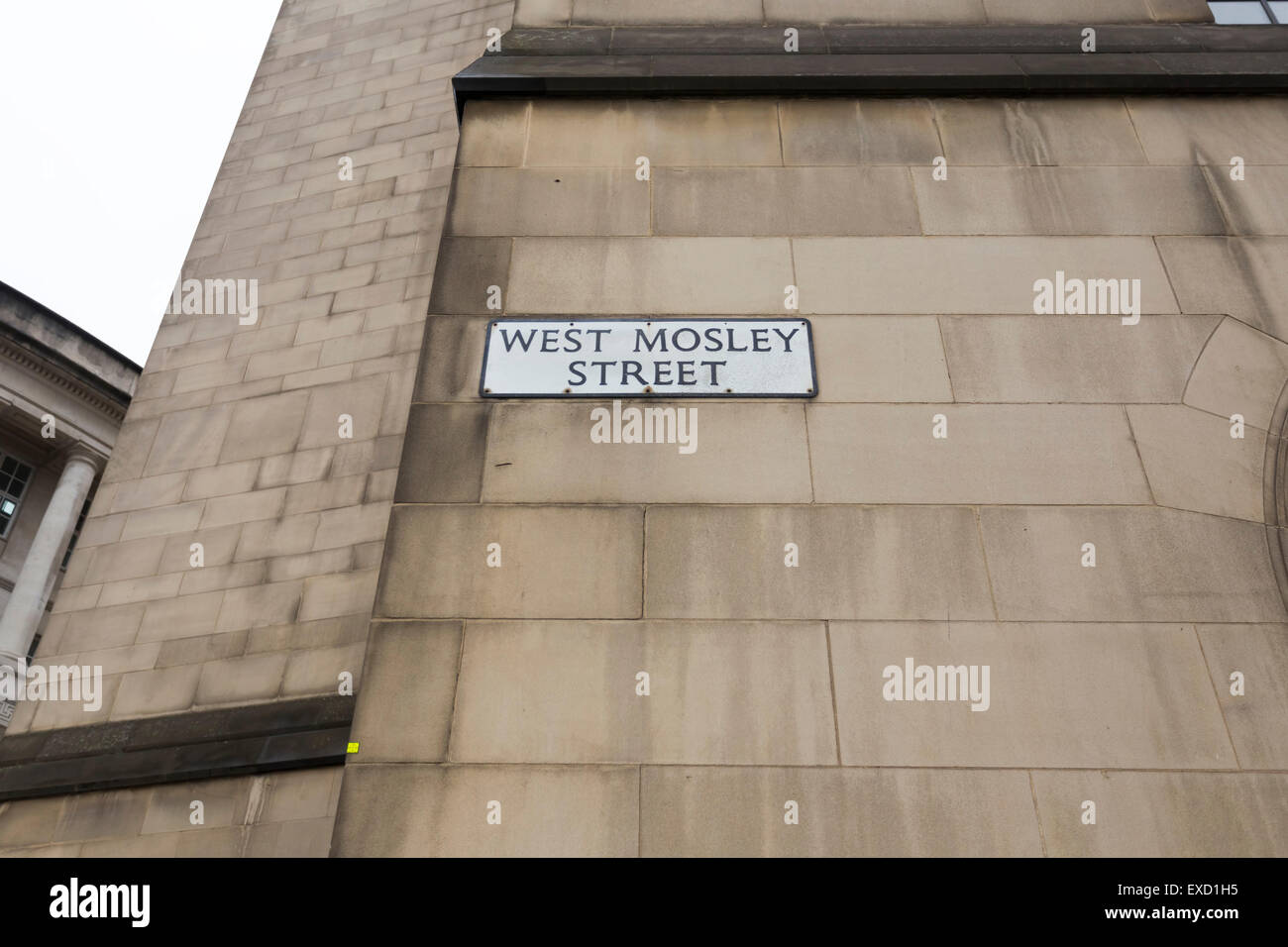 Street sign in Manchester City Centre. Stock Photo
