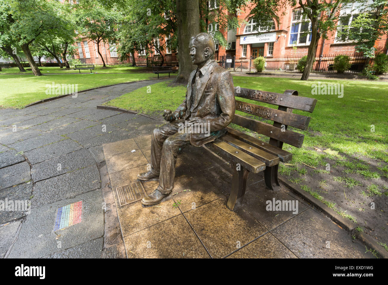 Alan Turing Memorial in Manchester,England. - Stock Image