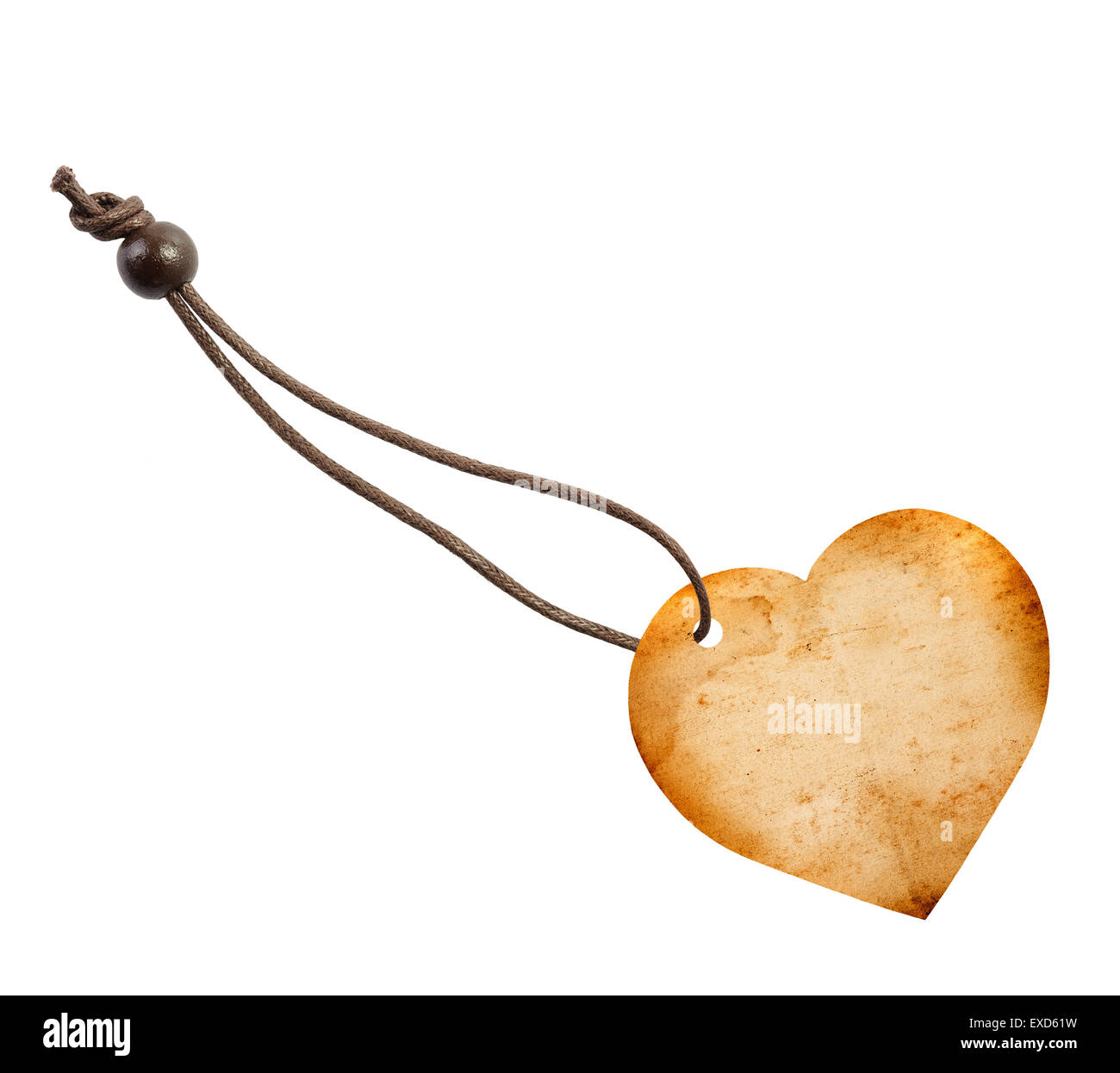 label shaped  Heart isolated on white background - Stock Image