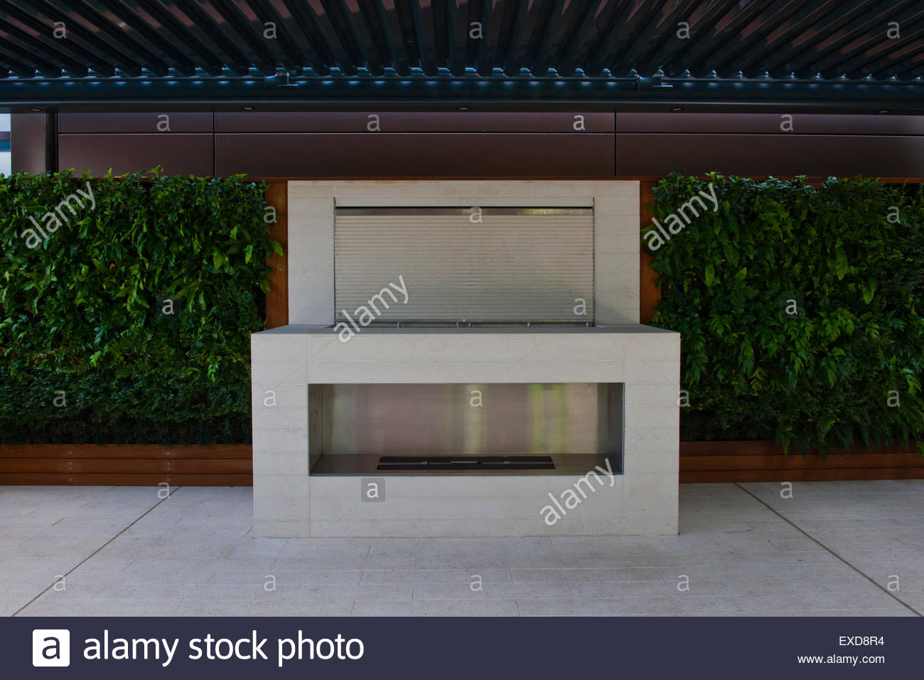 Contemporary roof garden - Stock Image