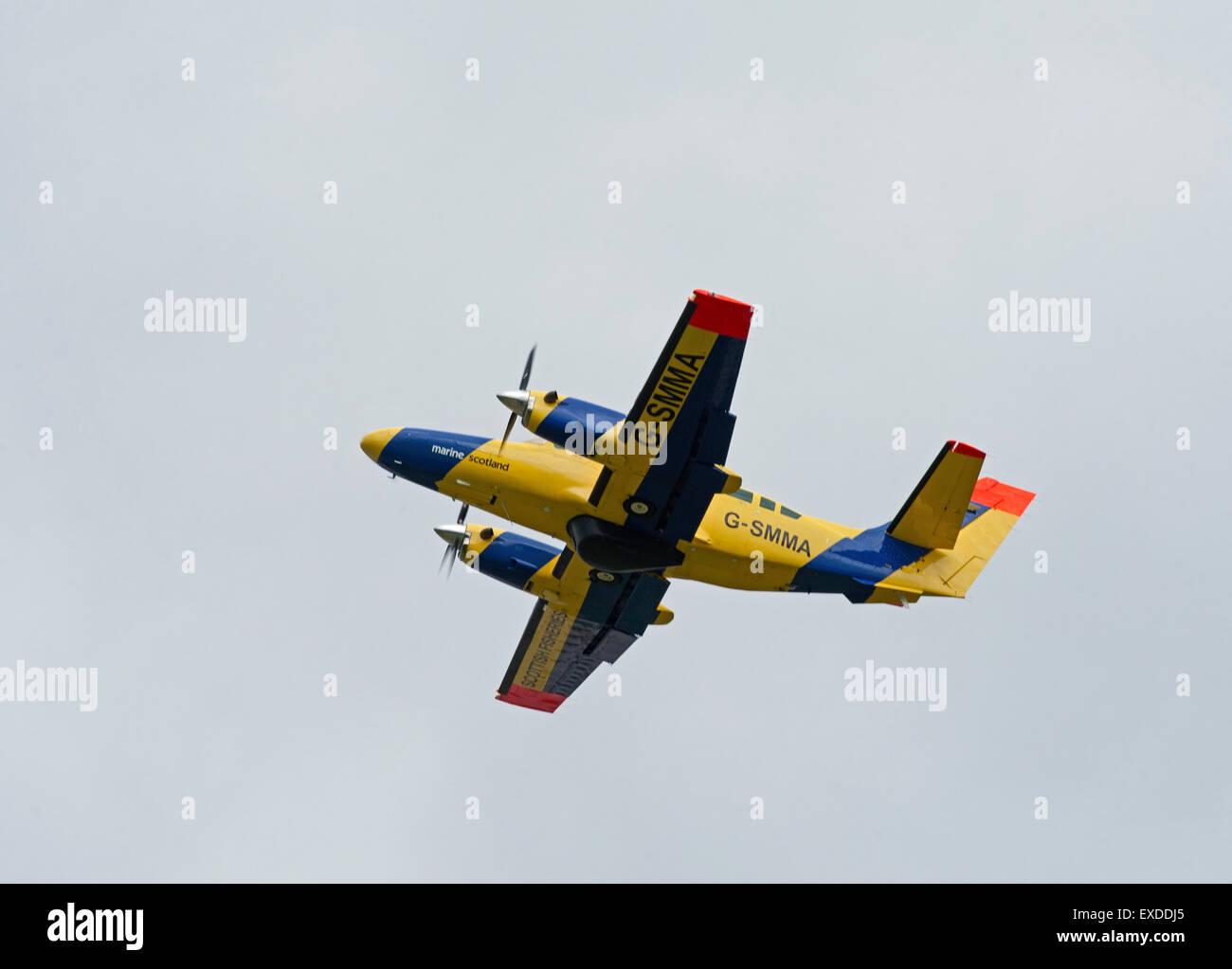 Scottish Fisheries Protection Agency Reims-Cessna F406 Caravan II.  SCO 9933 - Stock Image