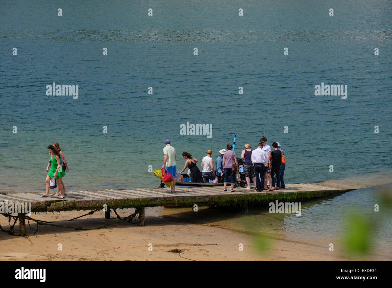 Salcombe, Devon, UK. The Ferry runs to and from the beaches at East Portlemouth from Salcombe - Stock Image