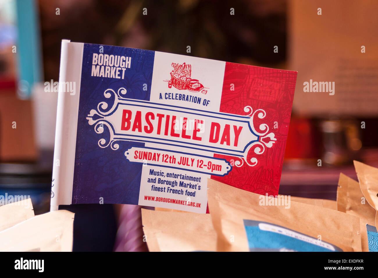 London, UK  12 July 2015  Francophiles gather to enjoy the