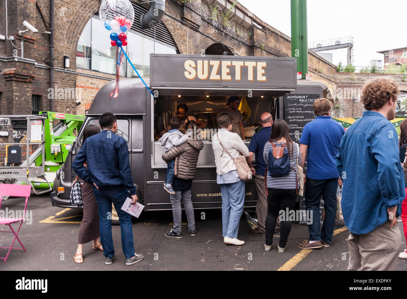 London, UK  12 July 2015  Francophiles gather to enjoy the Bastille
