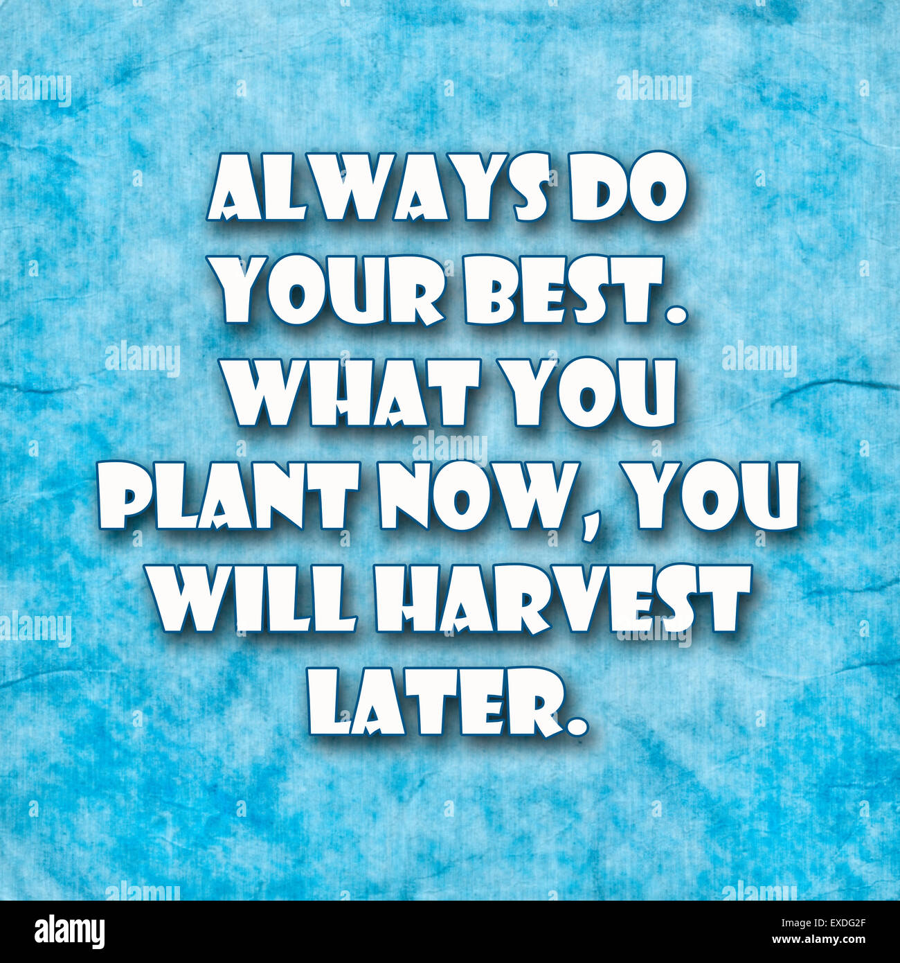 Always Do Your Best What You Plant Now You Will Harvest Latera