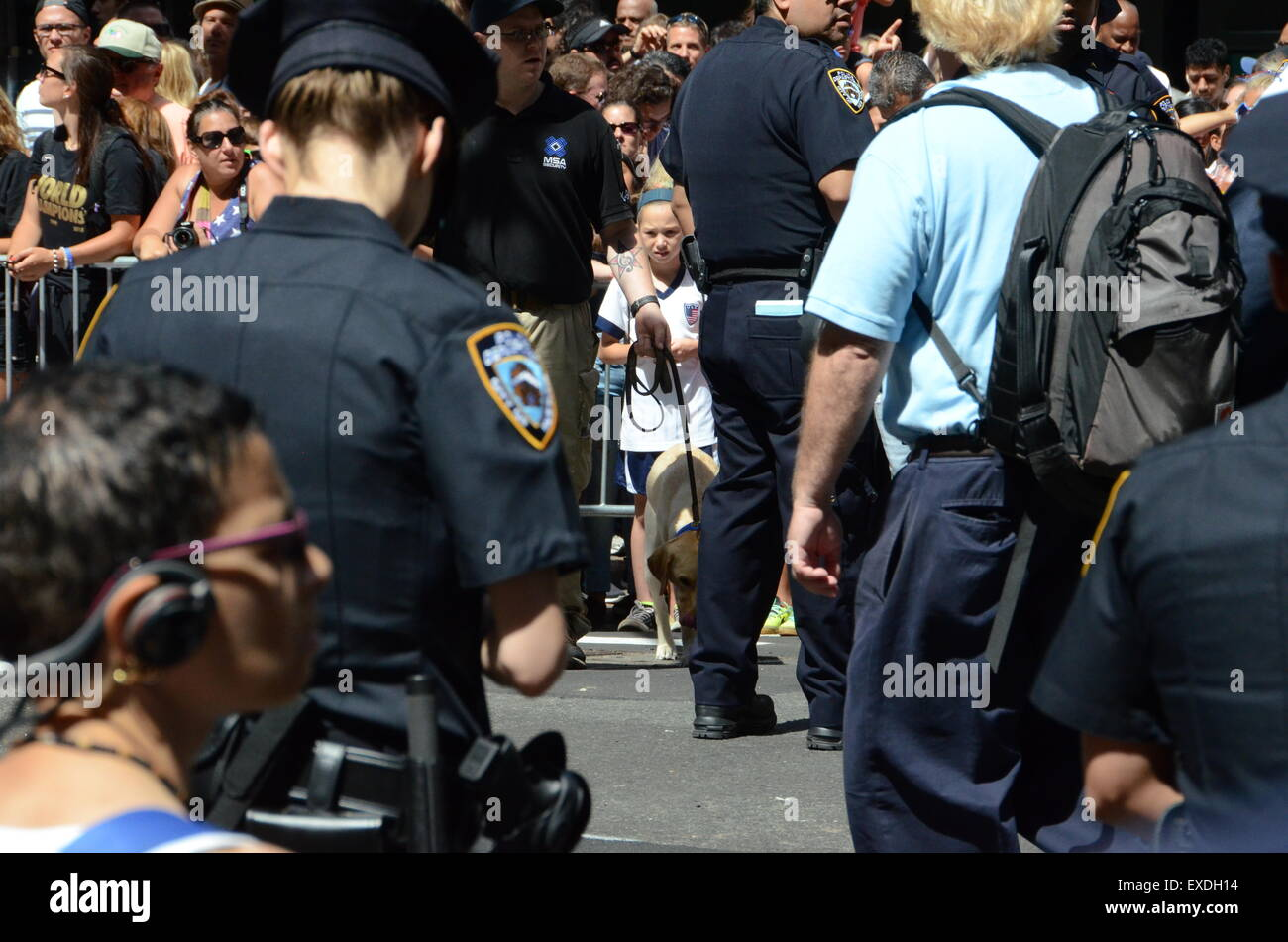nypd cops guns and belts - Stock Image